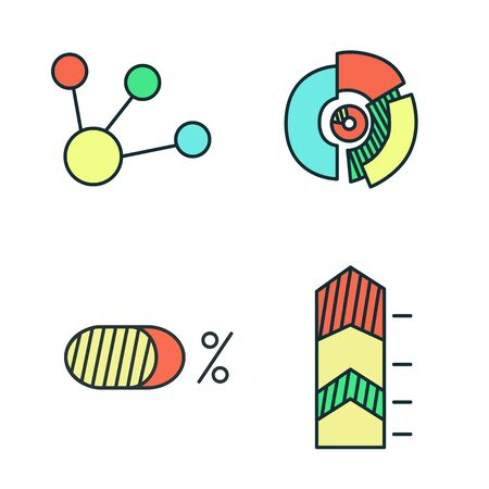 Business Infographic icons - diagram, chart. Vector illustration