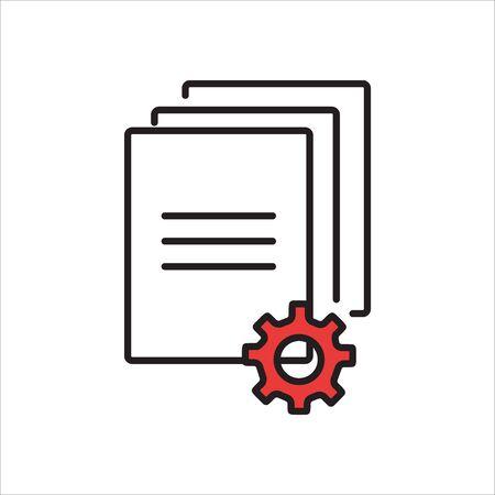 Document Icon, internet button, business concept Vector illustration Illustration