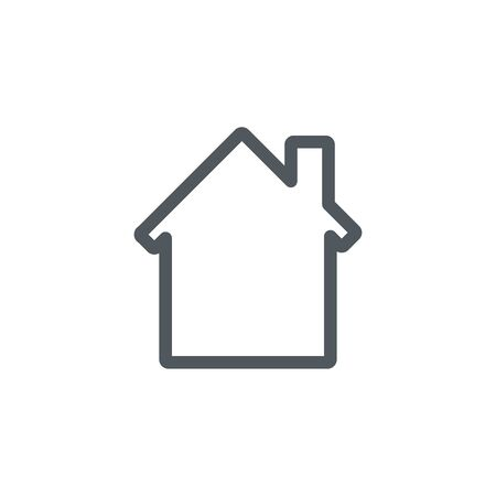 House icon. Real estate concept.Vector illustration of flat design isolated on background.