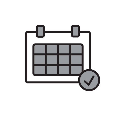 Calendar organizer icon. Vector illustration, flat design