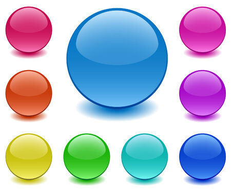 Spheres of ground glass Vector