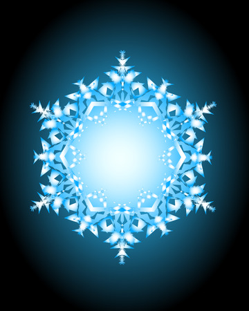 precipitation: Crystal-1. Vector