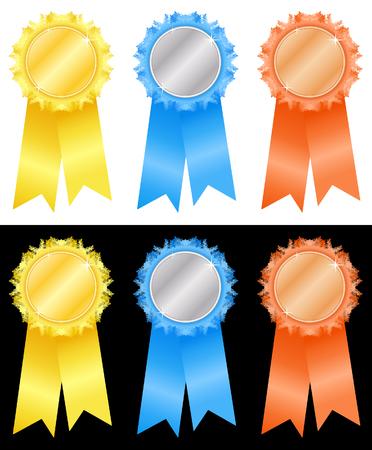 Winner's rosettes-5 Stock Vector - 3881248