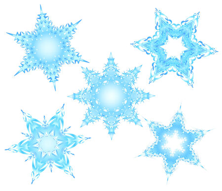 Set of snowflakes Stock Vector - 3881246