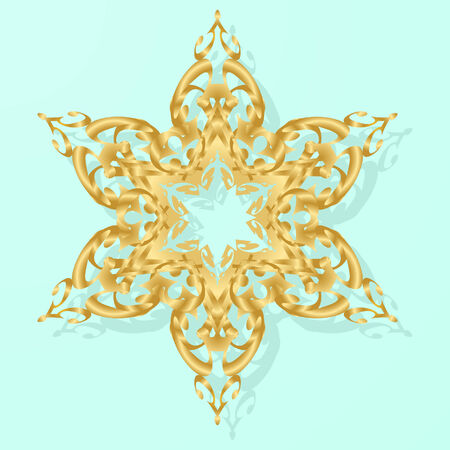 Gold snowflake Stock Vector - 3881211