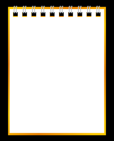 notebook paper background: Paper notebook on black background