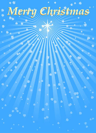 festal: Christmas star. Blue vector background