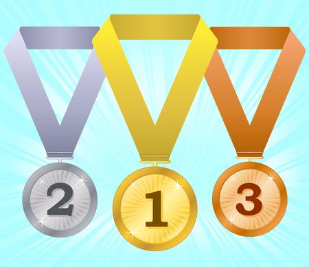 second prize: Medals-4 Illustration