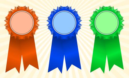 Winner's rosettes-1 Stock Vector - 3881240