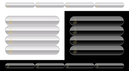 Black and white buttons for web Vector