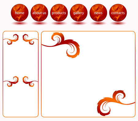Red website template Vector