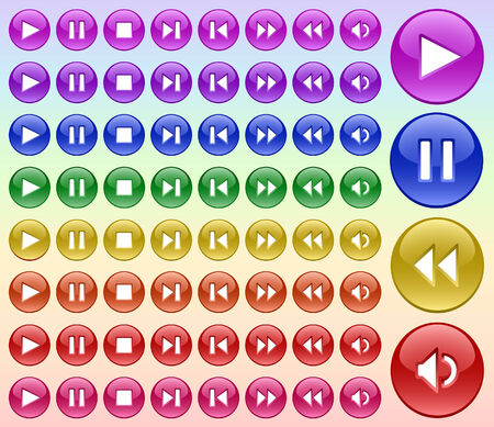 Color buttons for player-2 Vector