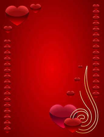 festal: Beautiful card for St. Valentines day