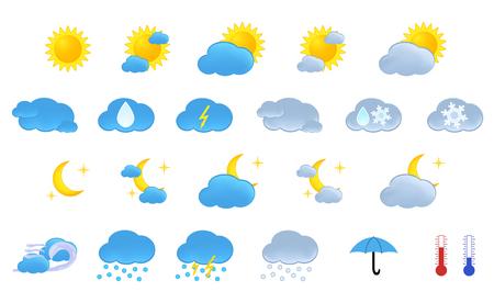 iconos del clima: Tiempo iconos