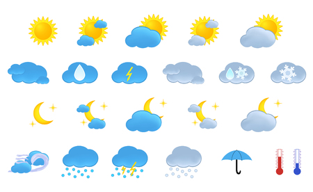 Weather icons Stock Vector - 4161108