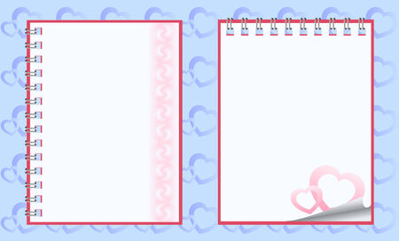 Romantic paper notebooks Vector