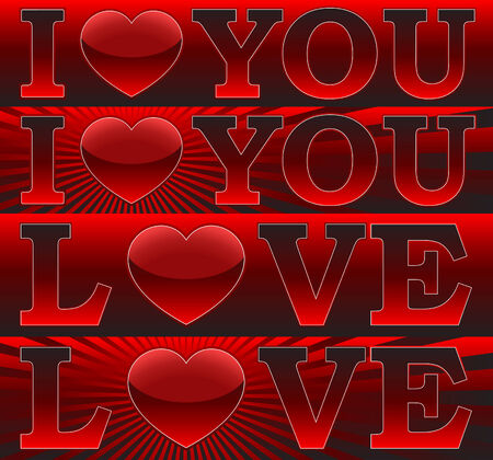 Banners _I Love You_ Vector Stock Vector - 4182424