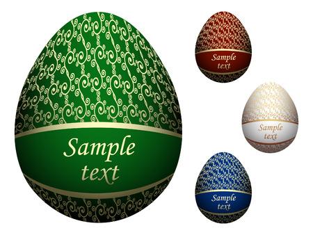 Ornate Easter eggs Vector