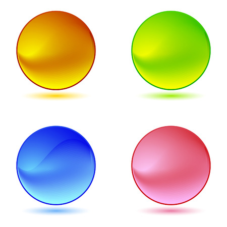 large group of objects: Color ring buttons