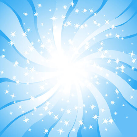 Sunlight. Abstract background with stars