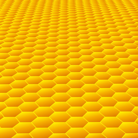 Honeycombs. Abstract textured background in vector Stock Vector - 5243597