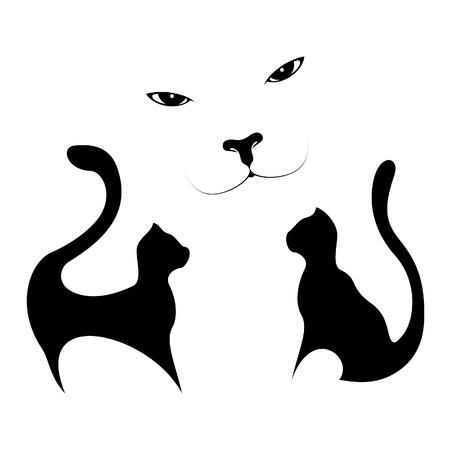 Tattoo - cats Vector