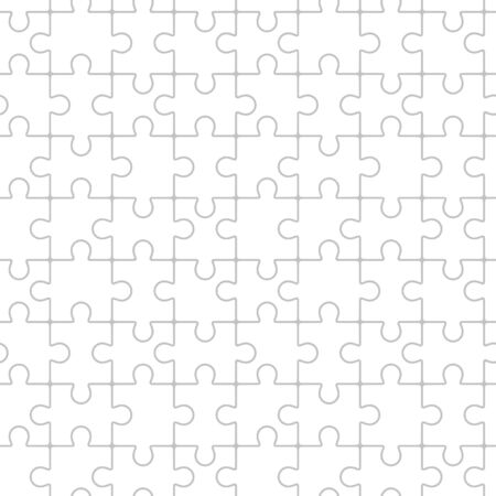 Puzzle - seamless background in vector Vector