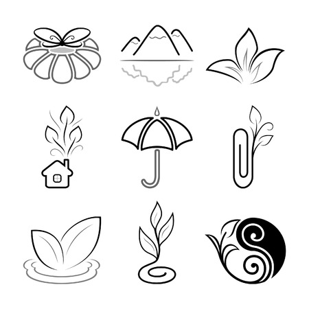 Nature icons Stock Vector - 5463297