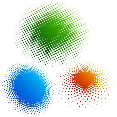 Halftone - color rings 3 Vector Illustration
