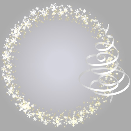 Xmas frame with snowlakes Vector