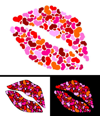 One kiss for Sweetheart Stock Vector - 6259917