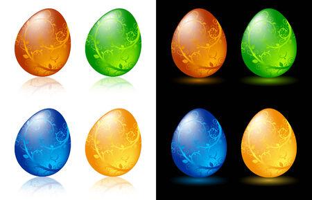 Decorative Easter eggs Stock Vector - 6430295