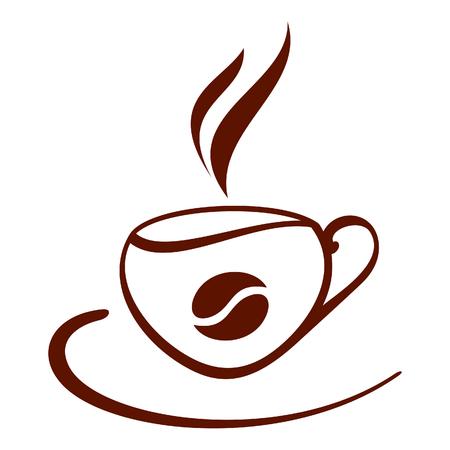 tasse caf�: Stylis� tasse de caf�