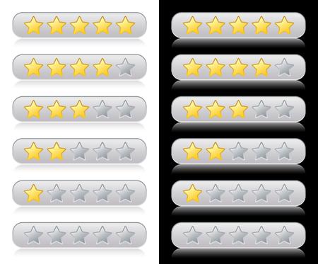 evaluacion: Clasificaci�n de estrellas para web  Vectores