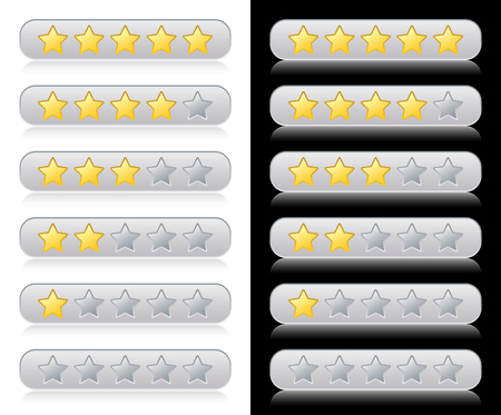 five elements: Rating stars for web