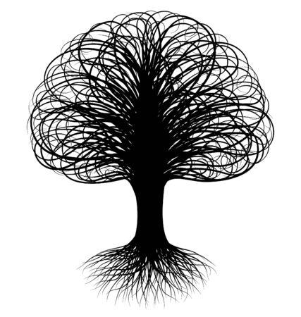 Abstract swirly tree Stock Vector - 6801893
