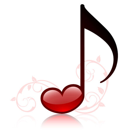 letras musicales: Lovemusic  Vectores