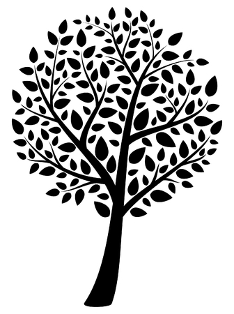 silueta: tree