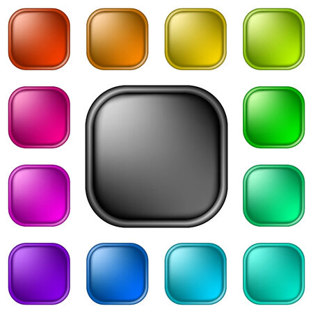 Glassy buttons for web Illustration