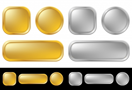 gold button: Gold and silver buttons