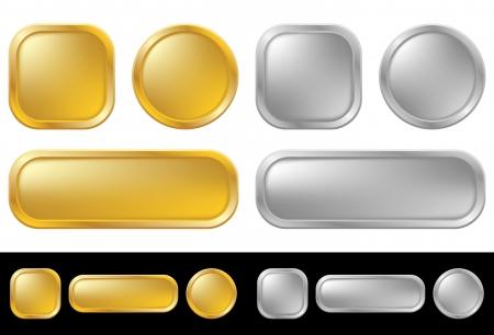 Gouden en zilveren knoppen