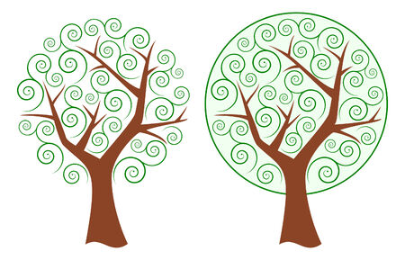 Abstract swirly trees Stock Vector - 7029403