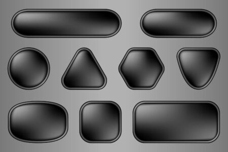 Buttons for web (black variation) Vector