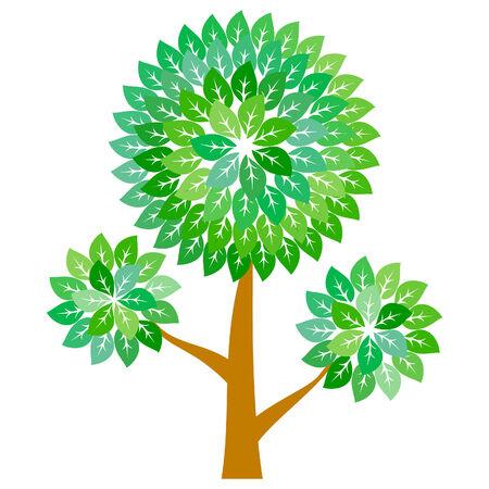 Abstract green tree Stock Vector - 7154501