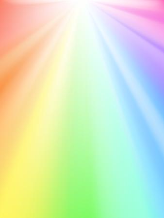 Shiny sky - rainbow light Stock Vector - 7154503