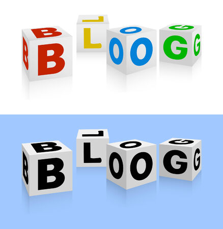 Blog icon. 3d illustration Vector