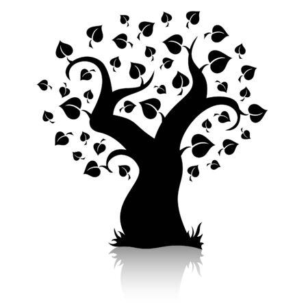 silueta:  tree (shape)