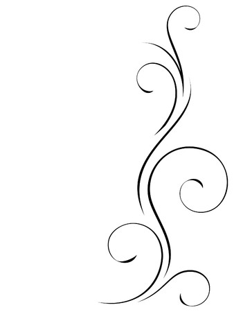 Abstract swirly decoration Vector