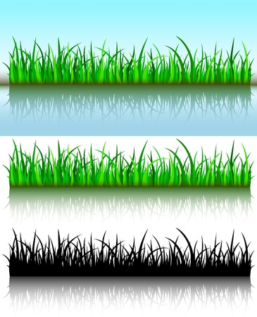 Grass brushes Vector