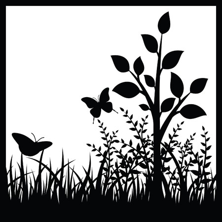Small tree and butterflies Stock Vector - 7410662